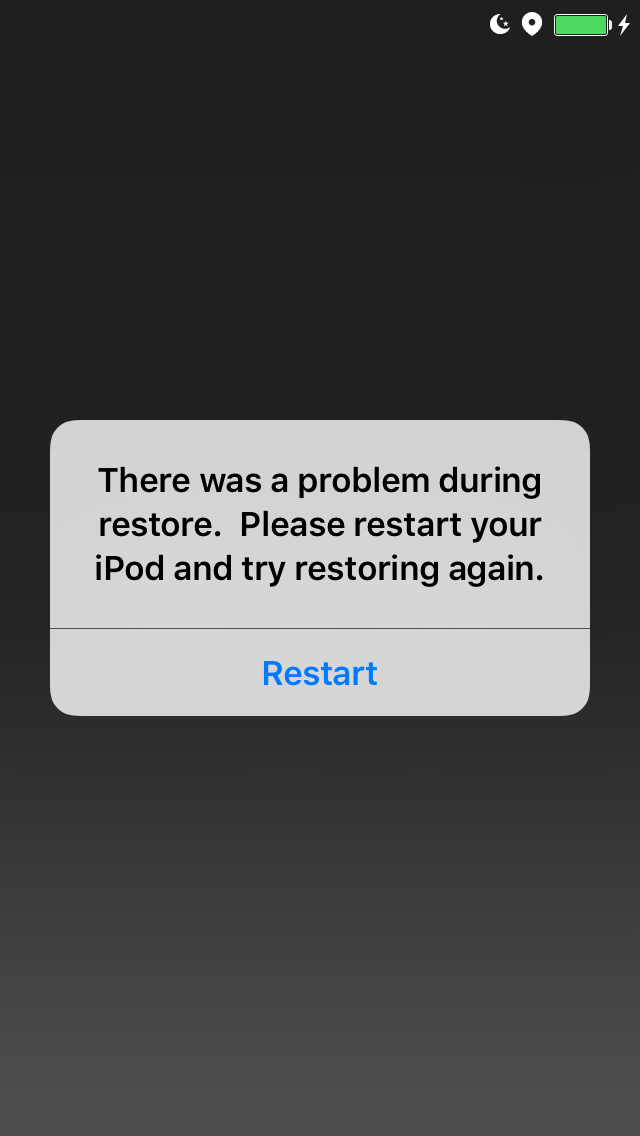 Restore screen