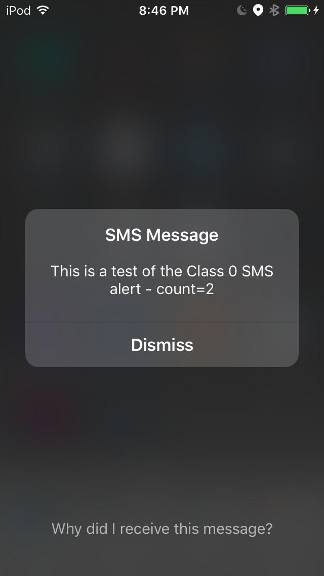Class0 SMS